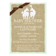 Woodland Baby Shower Deer and Burlap Custom Announcements