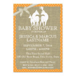 Woodland Baby Shower Deer and Burlap Personalized Invitation