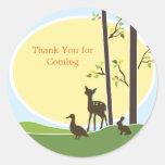 Woodland Baby Shower Favor Sticker