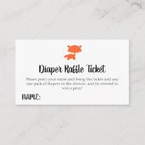 Woodland Baby Shower Fox Diaper Raffle Ticket Enclosure Card