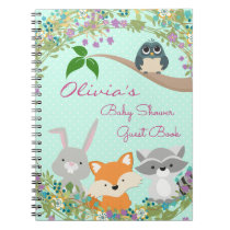 Woodland Baby Shower Guest and Gift Book