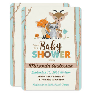Perfect Woodland Baby Shower Invitation