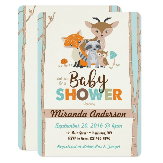Woodland Baby Shower Invitation Zazzlecom