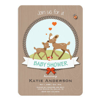 "Woodland Baby Shower Invitation 5"" X 7"" Invitation Card"