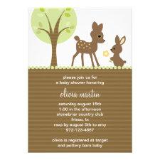 Woodland Baby Shower invitation