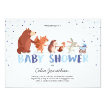 Woodland Baby Shower invitation Boy Forest Animals