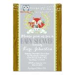 Woodland Baby Shower invitation Fox Owl Invite