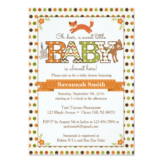 woodland baby shower invitations woodland animal