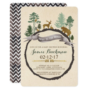 Woodland baby shower invitations announcements zazzle woodland baby shower invite filmwisefo