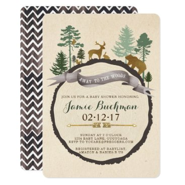 Toddler & Baby themed Woodland Baby Shower Invite