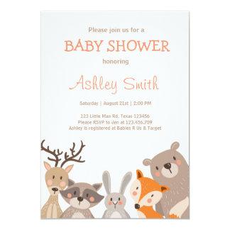 Woodland Baby Shower invite Animals Forest