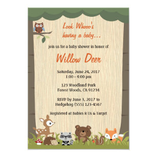 Surprise baby shower invitations announcements zazzle woodland baby shower invite boygirlsurprise filmwisefo Images