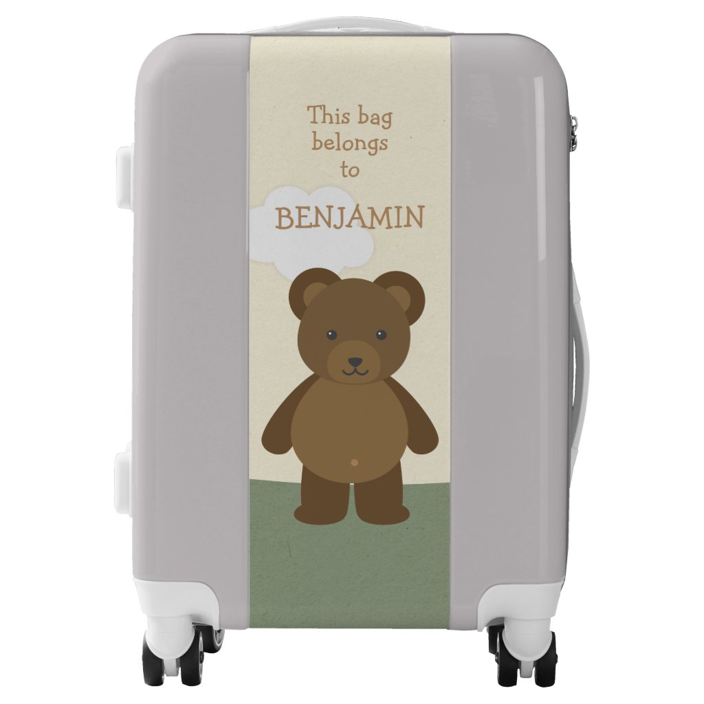 Woodland Bear Kids Luggage