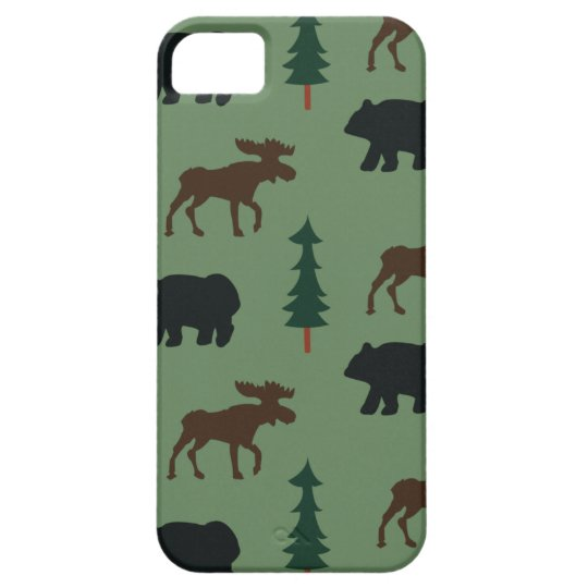 Woodland Bear Moose iPhone 5 Casemate Case