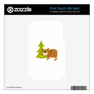 Woodland Bear iPod Touch 4G Skins