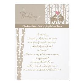Woodland Birch Wedding 5x7 Paper Invitation Card
