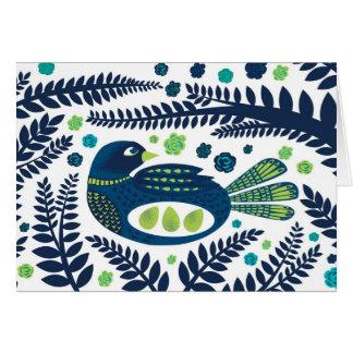 woodland bird card