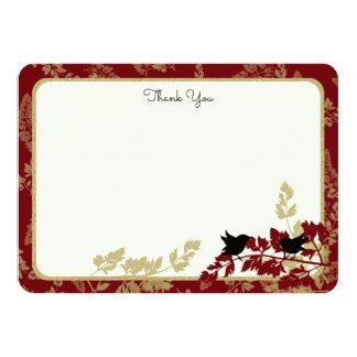 Woodland Birds and Foliage Flat Card Thank You