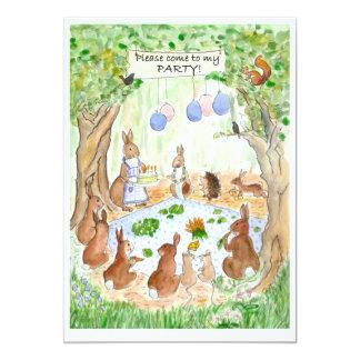 Woodland Birthday Party Invitation 13 Cm X 18 Cm Invitation Card