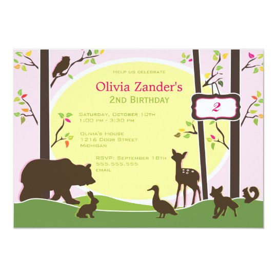 Woodland Birthday Party Invitation
