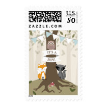Woodland Blue Baby Boy Postage