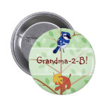 Woodland Bluejay Button
