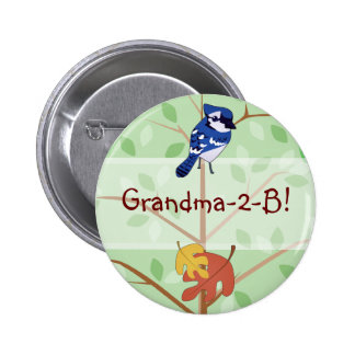Woodland Bluejay Button
