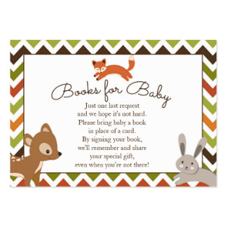 Woodland Books for Baby Insert - Book Request Large Business Card