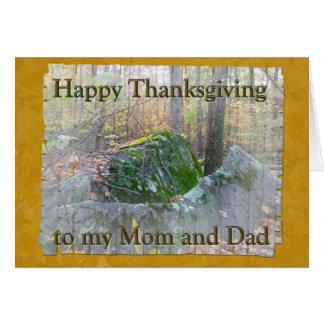 Woodland Boulders Mom & Dad Thanksgiving Card