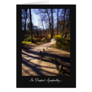 Woodland Bridge Trail - In Deepest Sympathy Card