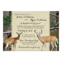 Woodland Buck and Doe Wedding Card