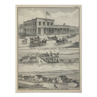 Woodland building, Yolo County farm Poster
