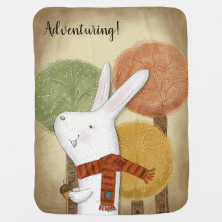 Woodland Bunny with Acorn Stroller Blanket
