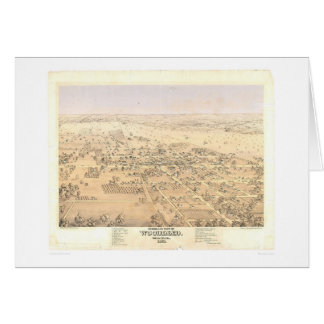 Woodland, CA. Panoramic Map (1874A) Card