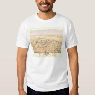 Woodland, CA. Panoramic Map (1874A) Shirt