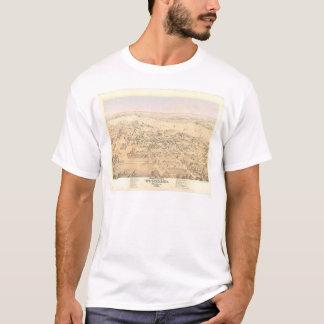 Woodland, CA. Panoramic Map (1874A) T-Shirt