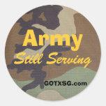 woodland camo, Army, Still Serving, GOTXSG.com Stickers