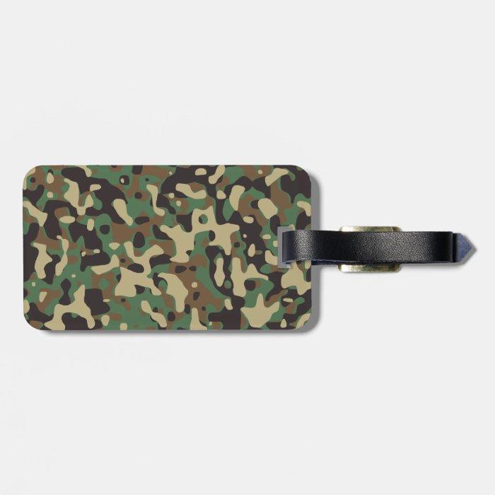 Woodland Camo Bag Tag