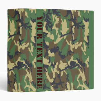Woodland Camo Vinyl Binders