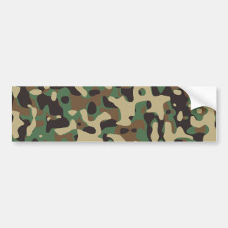 Woodland Camo Bumper Sticker