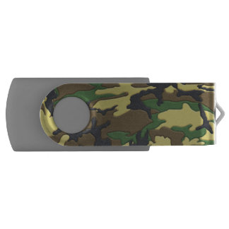 Woodland Camo Camouflage Swivel USB 2.0 Flash Drive