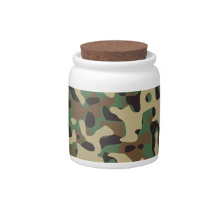 Woodland Camo Candy Jar