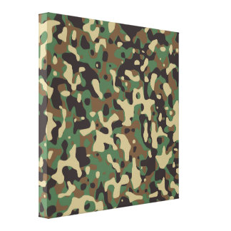 Woodland Camo Canvas Print