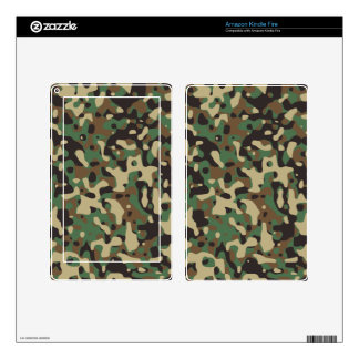 Woodland Camo Decal For Kindle Fire
