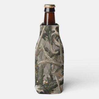 Woodland camo deer head bottle cooler