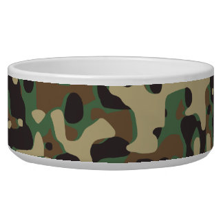 Woodland Camo Dog Food Bowl