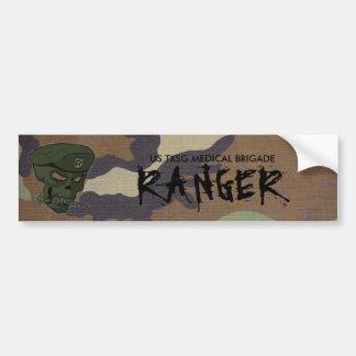 woodland camo, edited skull green no eyes, US T... Car Bumper Sticker