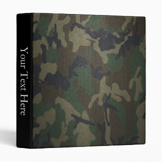 Woodland Camo Fabric 3 Ring Binder