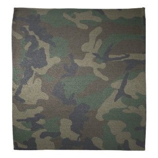Woodland Camo Fabric Bandana