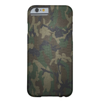 Woodland Camo Fabric Barely There iPhone 6 Case